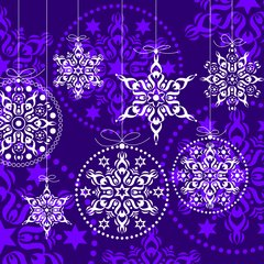 X-mas Decorations lilac