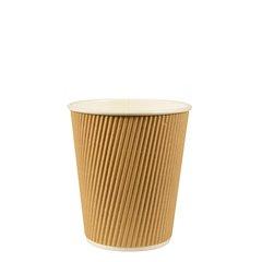 """Drinking cup, cardboard """"pure"""" 0,1 l Ø 6,2 cm x 6 cm Ripple Wall (25 cups)"""