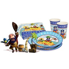 "Party set ""Magic Xperience"" ""Pirate"" plates, cups + napkins"