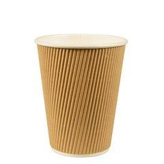 """Drinking cup, cardboard """"pure"""" 0,3 l Ø 9 cm x 11 cm Ripple Wall (25 cups)"""
