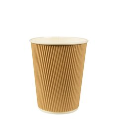 """Drinking cup, cardboard """"pure"""" 0,2 l Ø 8 cm x 9 cm Ripple Wall (25 cups)"""