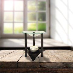 Incense lamp, metal Ø 12 cm · 14,5 cm black incl. Glass plate