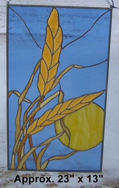 Beveled wheat panel