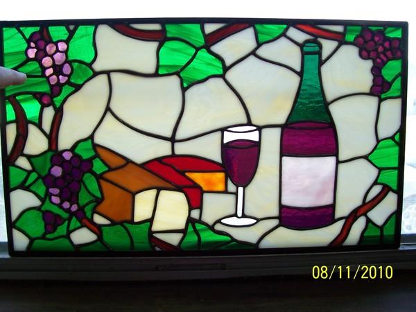 Wine Themed Transom