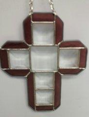Block cross, small purple