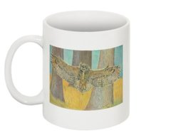 Great Horned Owl Print Collectible Mug