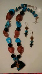 Vandy Semi Precious Stone Set