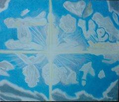 Written in Clouds Colored Pencil Art Print