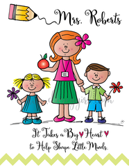 Teacher with Kids Card
