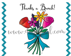 Thanks a Bunch! Flower Card