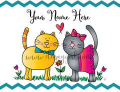 Clancy and Fluffy Card Greeting Card