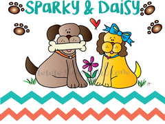 Sparky and Daisy Card