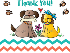 Thank You! Sparky and Daisy Card