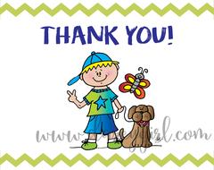 Thank You! Boy & Dog
