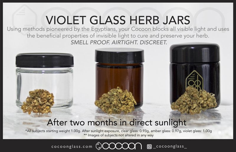 How It Works Cocoon Glass Ultra Violet Herb Jars