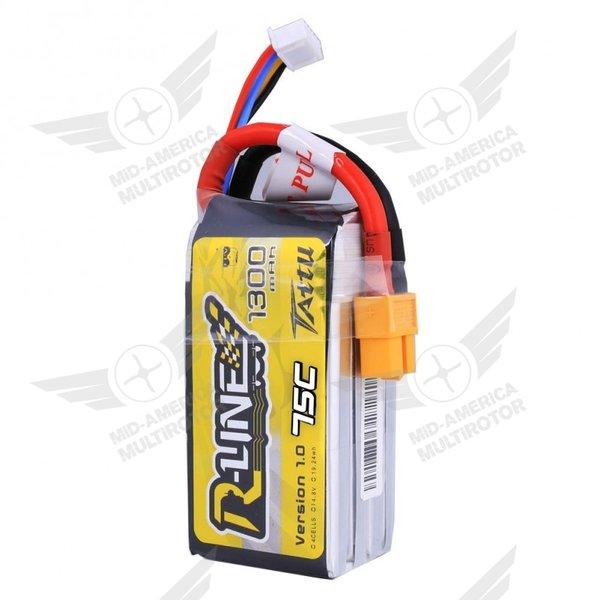 Tattu R-Line 1300 mAh 75C 4S1P Lipo Battery Pack with XT60 Plug
