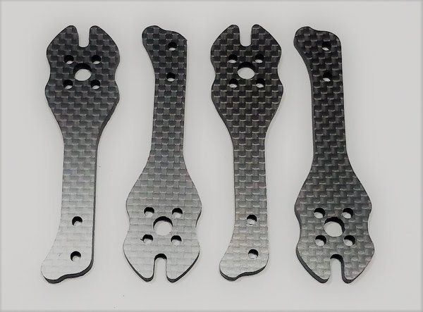 """MAMR 4"""" StretchX Carbon Fiber Arms (4mm thick)"""
