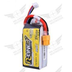 Tattu R-Line 1300 mAh 95C 4S1P Lipo Battery Pack with XT60 Plug