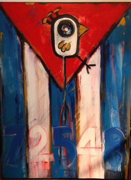 "Rolando Chang Barrero, Cuba, 30""x 40"", acrylic on canvas"