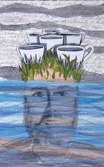 """Juan Erman Gonzalez,""""Entre La Tierra Y La Mar"""", Mixed Media, 21"""" x 14"""""""