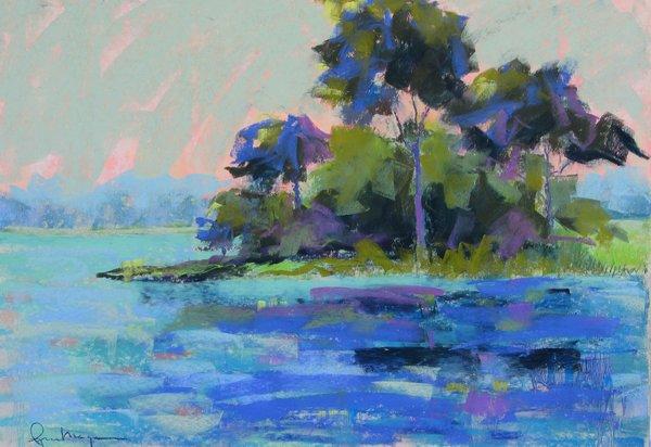 Lynn Morgan, From the Pier 2014, Pastel, 19x27