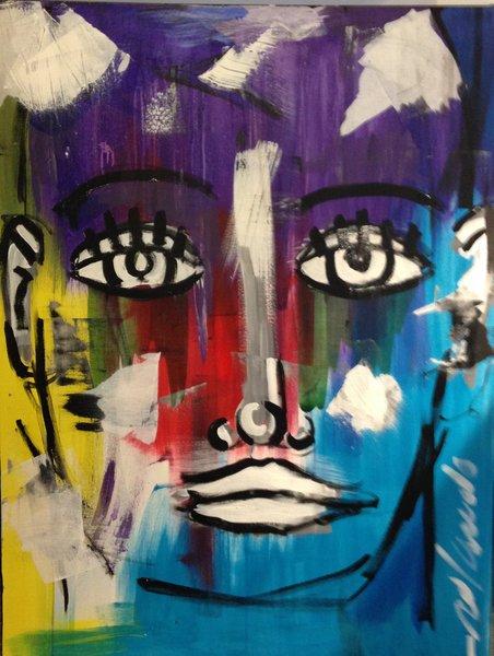 Rolando Chang Barrero, 3' x 4', Acrylic on Canvas