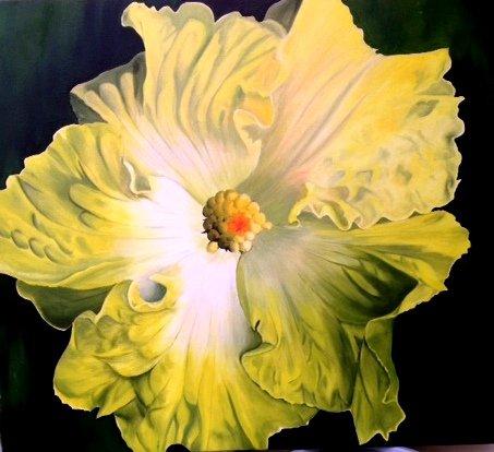 """Pat Strum, Lemon Chiffon, Oil, 36"""" x 40"""""""