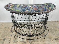 "Carlos Alves, Secret Garden Bar, Iron and Ceramic, 30""W x 60""W x 42'H"