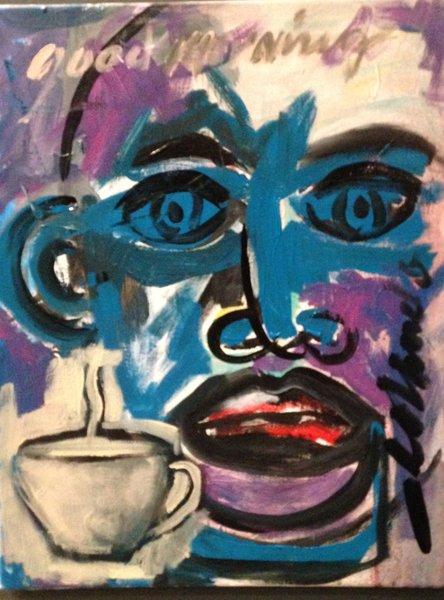 """Rolando Chang Barrero, Good Morning 1, 16"""" x 20"""", Acrylic on Canvas"""