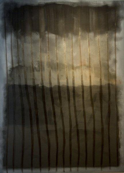 "Wayne Stephens, Untitled, Acrylic on Canvas, 44"" x 78"""