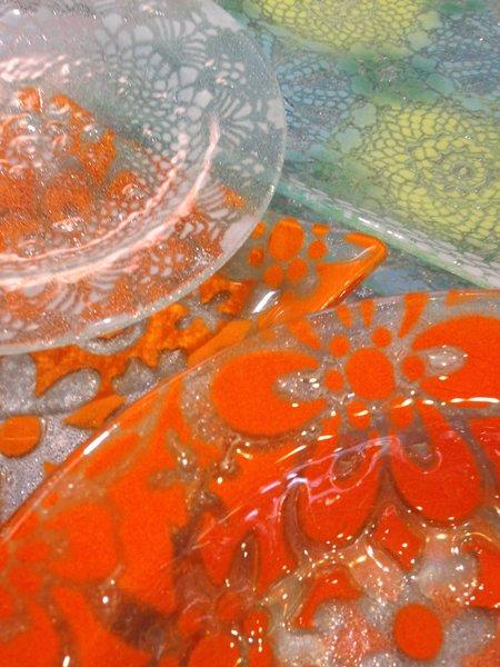 Kicking Glass by Sheree, Dessert Plate