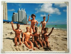 "Paul Solovay, South Beach Guys, Limited Edition Print 1 of 25, 24"" x 31"""
