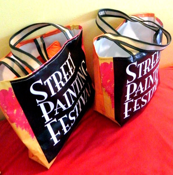 "Lake Worth Street Painting Festival, Limited Edition SPF Tote, 13"" x 12"" x  6"""