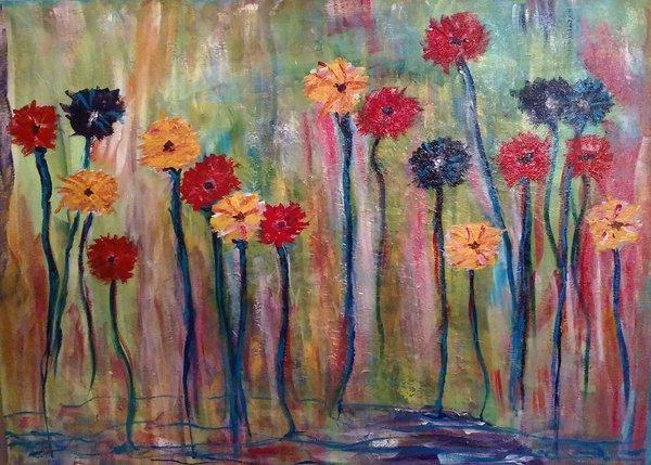 "Marie Christine Hartzell, Freedom 2015, Acrylic, 28"" x 22"""