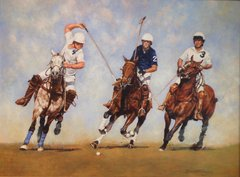 "David McEwen, Polo 23, 26"" x 20"", Oil"