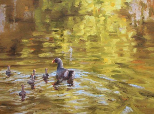 Chris Kling Family Reflections, 2015 Oil