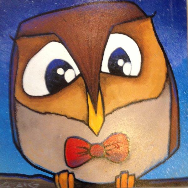 "Craig McInnis, ""Eager"", 8"" X 8"", acrylic on wood,"