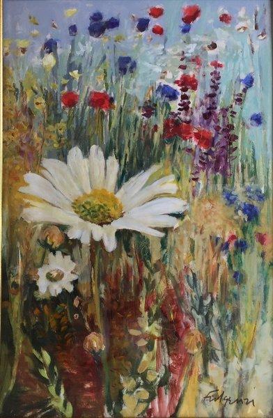 Maureen Fulgenzi, Daisy, 2005, Pastel/Gouache/Paper/Board