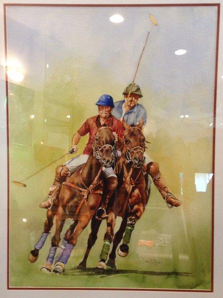 "David McEwen, Polo WC20, 30"" x 21"", Watercolor on Paper"