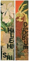 Judy Flescher Orchid Diptych , 2005 Acrylic Collage on Wood $4000.00