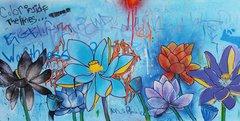 """Loren Squier,Lotus Field, Mixed Media, 30"""" x 40"""""""