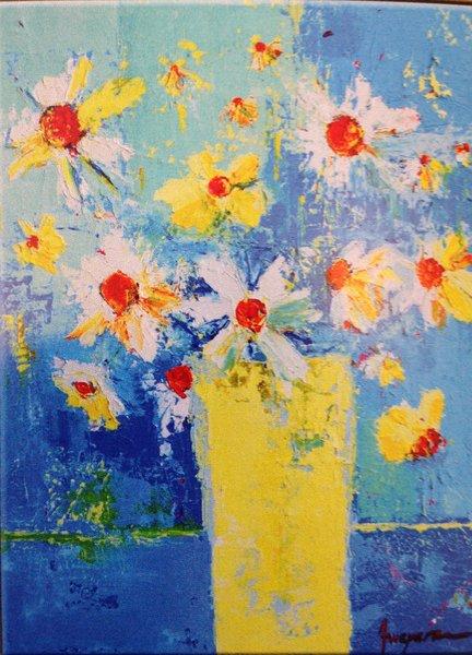 "Patricia Awapara, Spring Flowers No.2, 18"" x 24"", acrylic on canvas"