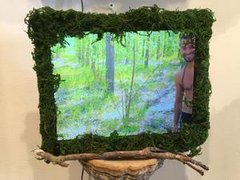 Allison Kotzig, Video all Installation: Centaur Forest II,2016,	Mixed Media with Video