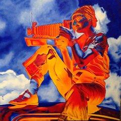 Serafima Sokolov, Dorothea Lange, Oil on Canvas,