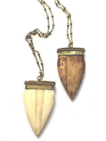 Bohemia Nia Beaded Horn Necklace