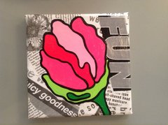 "Nicole Galluccio ""Tulips"" 6"" by 6"" Mixed Media"