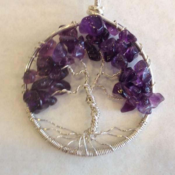 Jerilyn Stone Designs: Amethyst Tree Pendant, Gems and Sterling Silver