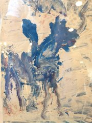 """Purvis Young, Blue Horse, Acrylic/Paper, 8"""" x 10"""""""