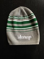 Mustangs Striped Slouch Beanie