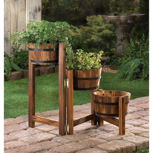Apple Barrel Planter Ladder